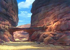 Living Lines Library: Spirit: Stallion of the Cimarron - Backgrounds: Concepts, Layouts & Final BGs Environment Concept Art, Environment Design, Desert Environment, Fantasy Landscape, Fantasy Art, Disney Concept Art, Fantasy Places, Fantasy Setting, Animation Background