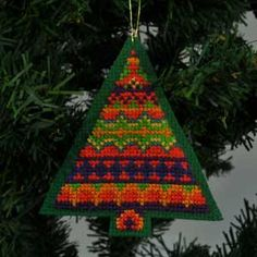 Fair Isle Inspired Christmas Tree #6