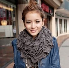 Fashion Ladies Scarves 2014 Women Winter Knitting Wool Collar Scarves women's ring scarves free ship cachecol feminino SCA016(China (Mainland))