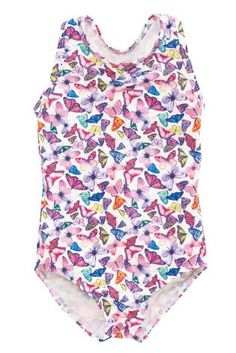 Buy Butterfly All Over Print Swimsuit from the Next UK online shop Kids Swimwear, Swimsuits, Backyard Picnic, Kids Checklist, Beach Look, Swim Shorts, Uk Online, Butterfly, Swimming