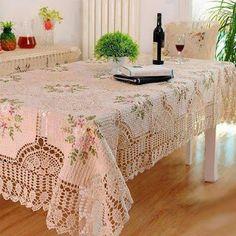 Harmonia Em Crochê: Toalha de mesa de crochê