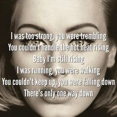 Adele. Send My Love. Running. Walking.