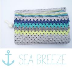 Sea Breeze crochet blanket. Granny stitch.