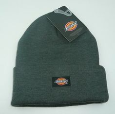 8ce71d642cd Dickies Grey Cuffed Beanie Hat Core Knit Cuff - NWT Warm Winter Brand New  GRAY