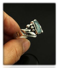 Feather Morenci Turquoise Band Ring