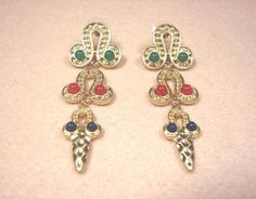 J-WELL Premier Jewelry Lucky Totem of Chinese Tribe Dangle Gold Stud Earrings
