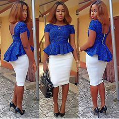 African/ethnic/ankara women peplum top by AFROCOLLECTION2015