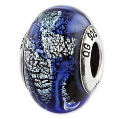 Beautiful Sterling silver 925 sterling Sterling Silver Reflections Sodalite Stone Bead