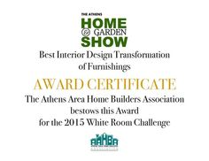 """Athens Home & Garden Show, February 28th and March 1st, 2015. Athens Technical College interior design program has been asked to participate for the second year in the """"White Room Challenge."""" Interior design students are going to transform furniture and accessories that have been donated to Athens' Habitat for Humanity RESTORES."""