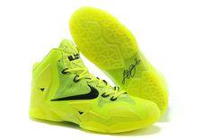 New Nike LeBron 11 Womens Fluorescence Green Black Discount Kobe 9 Shoes, Kd 6 Shoes, Nike Kids Shoes, Cheap Nike Shoes Online, Air Jordan Shoes, Sneakers Nike, Lebron 11, Nike Lebron, Lebron James