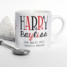 expresso or childs personalised mug by lovehart | notonthehighstreet.com