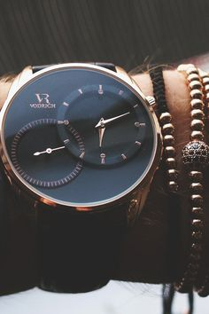 """vividessentials: """"VODRICH Dual Time Rose Gold Watch - $65.00 VODRICH Rose Gold Macrame Stack - $45.00Buy yours here. """""""