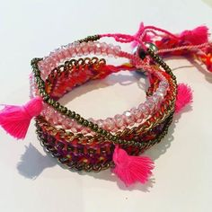 Set of 3 Funky Bracelets for Summer Fun.. Free Shipping Now!!!