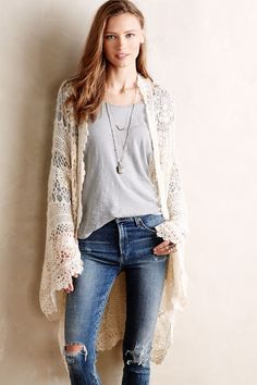 inspiration - Loose Crochet Shrug (1 of 2: the front) from Antropologie, posted by Outstanding Crochet