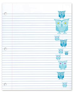 love the paper look, love the owls, woulda loved it in graph paper too :)