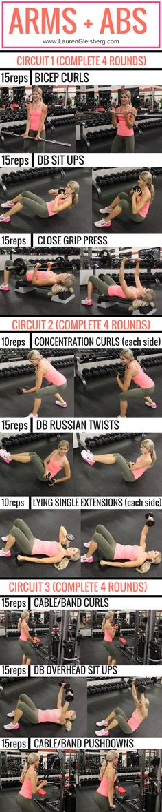 Arms + Abs Circuit #abstraining