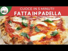 Neapolitan pizza in a pan ready in 5 minutes FoodVlogger Biscotti, Nutella, Neapolitanische Pizza, Panini, Italian Language, Lasagna, Cooking Recipes, Ethnic Recipes, Food
