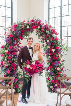 Alabama Weddings Magazine Style Series Shoot with Magnolia Vine Events Fuschia Wedding Flowers, Floral Wedding, Wedding Bouquets, Wedding Show, Wedding Pics, Dream Wedding, Wedding Ceremony Decorations, Wedding Themes, Hot Pink Weddings