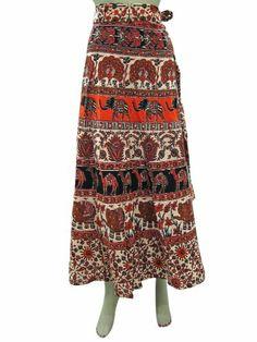 Womens Skirt Sarong Orange Ivory Elephant Print Cotton Wrap Around Skirts Mogul Interior,http://www.amazon.com/dp/B00HXANLDS/ref=cm_sw_r_pi_dp_qgX2sb05SQ92QJDB