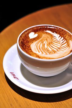 Coffee art. Ohh I could go for some wonderful, good coffee right now.
