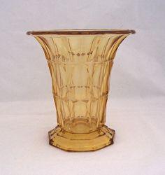 Amber Art Deco Glass Vase 1930s 1940s Vase by thesecretcupboard, £12.00