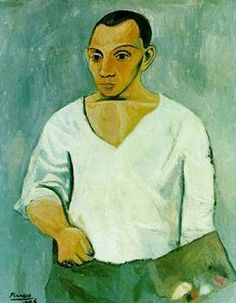Self Portrait with Palette by Pablo Picasso oil painting art gallery Picasso Self Portrait, Pablo Picasso Artwork, Kunst Picasso, Art Picasso, Picasso Paintings, Famous Art Pieces, Most Famous Paintings, Famous Self Portraits, Philadelphia Museum Of Art