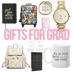 Gift Guide: Ideas for the fabulous graduate   It's that time of year where both college and high school students graduate and leave to try something new and incredibly exciting. And what better way to celebrate a new journey than with a fabulous gift? Graduation gifts are always one of my favorite things to pick out (and I'm sad that the number I get to buy for is slowly dwindling as all my friends and family age) because the gift symbolizes the start of a new chapter is someone's life. I…