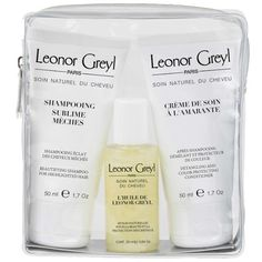 Women's Leonor Greyl Paris Luxury Travel Kit For Color Treated Hair ($62) ❤ liked on Polyvore featuring beauty products, haircare, no colro, travel kit, toiletry kits, wash bag, travel bag and purse makeup bag