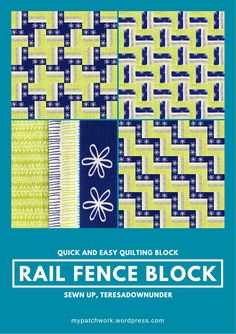 Video tutorial: Quick and easy rail fence quilting block. Many quilt layouts are…