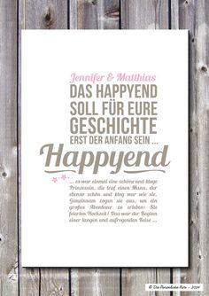 Euer Märchen soll mit dem Happyend erst so richtig beginnen! ... Druck/Wandbild: Happyend - Märchen (Hochzeit)