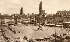 La place Kléber vers 1935, Strasbourg : Real-Photo CAP, [1935?], 1 carte postale ; 90 x 140 mm