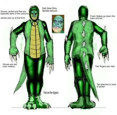 Lizard costume Idea by legendbourne.deviantart.com on @DeviantArt