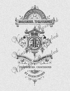 Vintage French Label Instant Download for Iron by VintageRestyled, $1.00
