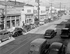 1942 Main Street, San Pedro, California Vintage Photograph x Reprint San Pablo California, California History, Southern California, Vintage California, Usa Street, Harbor City, San Leandro, Boston Public Library, Japanese American