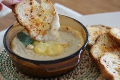Cheesy White Bean Dip with Paprika Toasts