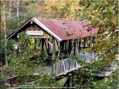 Old Union Crossing Covered Bridge in Mentone, AL
