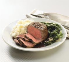 Enjoy tender 8 oz.Harris Ranch Restaurant Reserve Choice, center cut filet mignons. Aged 7-14 days to the peak of tenderness. Knife is not required.