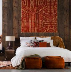 Bohemian Room Decoration, Room with Various Motifs and Colors 3 - umakup - - Ethnic Bedroom, African Bedroom, African Interior Design, Bohemian Room Decor, Style Africain, African Home Decor, Master Bedroom Design, My New Room, Bedroom Decor