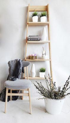 meble - regały i półki-Zamówinie indywidualne: Drewniany regał