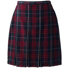 School Uniform Plaid Box Pleat Skirt Top of the Knee from Lands' End ❤ liked on Polyvore featuring skirts, bottoms, faldas, box pleat skirt, blue plaid skirt, blue tartan skirt, lands end skirts and tartan plaid skirt