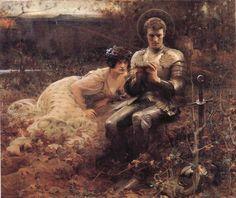 The Temptation of  Sir Percival, John William Waterhouse