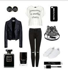 An everyday-outfit, it is perfect for sleepy Mondays. By Polyvore