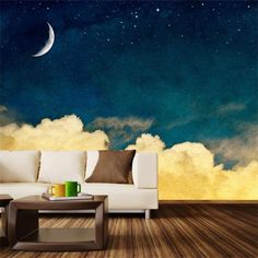 Do you need glowing walls? consider the glow in the dark wallpaper designs for home walls and the other options of this purpose: glowing in the dark stickers, wall murals, paints and LED wallpaper lighting Wall Mural Decals, Removable Wall Murals, Painted Wall Murals, Wall Art, Bedroom Murals, Bedroom Wall, Murals For Walls, Interior Exterior, Interior Design