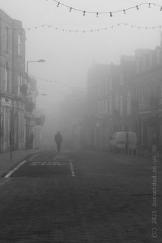 A misty day, in a Dorset town. #dorset #blackandwhite #blackandwhitephotography #photography #photooftheday #mist #misty #monochrome #town