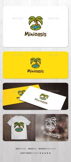 Mini Oasis - Logo Design Template Vector #logotype Download it here: http://graphicriver.net/item/mini-oasis-logo/13479628?s_rank=365?ref=nexion