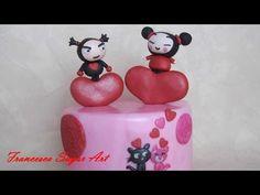 Fondant Pucca and Garu Funny Love Cake Topper / Come fare Pucca e Garu in pasta di zucchero - YouTube