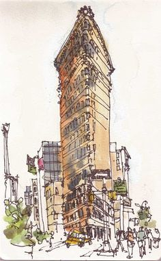 Urban Sketchers: At the Big Apple Barbecue Block Party