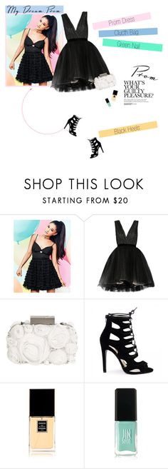 """""""No 337:My Dream Prom"""" by lovepastel ❤ liked on Polyvore featuring Lipsy, Alice + Olivia, Matthew Williamson, Chanel, JINsoon and promdoover"""