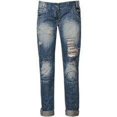 BLONDE & BLONDE Ripped Biker Jeans ($22) ❤ liked on Polyvore featuring jeans, pants, bottoms, pantalones, blue, torn skinny jeans, destructed skinny jeans, bleached jeans, ripped blue jeans y destroyed skinny jeans