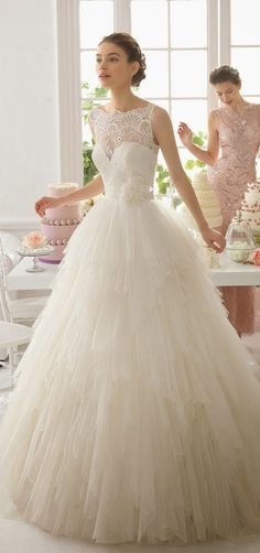 Cheap bridal gown, Buy Quality fashion bridal gowns directly from China vestidos de novia Suppliers: New Fashion Ruffles A Line Wedding Dress Covered Buttons Sleeveless Tulle Sweep Train Gorgeous Vestido de novia Bridal Gown Aire Barcelona Wedding Dresses, 2015 Wedding Dresses, Bridal Dresses, Bridesmaid Dresses, Dresses 2016, Dresses Uk, Prom Dresses, Wedding Robe, Wedding Attire